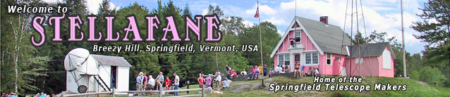 Stellafane Home Page Header